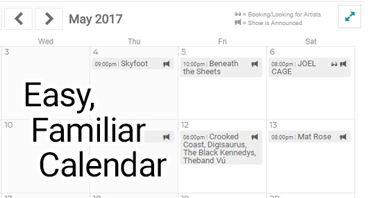 Google Calendar for Live Music Venue and Promoters