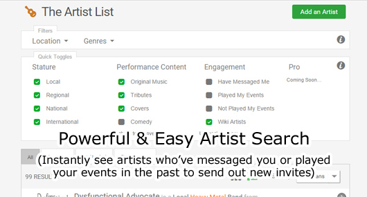 Powerful Artist Search